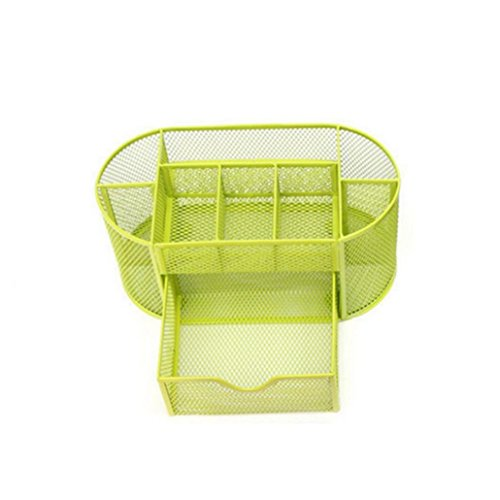 mesh-organizer-accessori-da-scrivania-ufficio-forniture-pen-holder-yellow