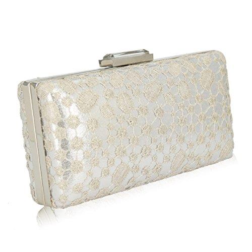 GSHGA Handtaschen-Handtaschen-Handtaschen-Schulter-Kurier-Beutel Der Frauen,Silver Silver