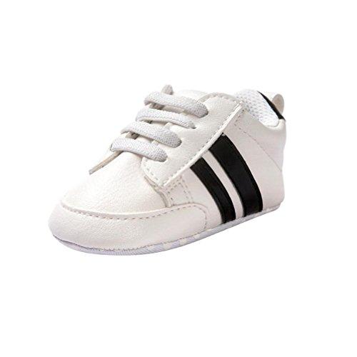 Manadlian Chaussures Bébé Chaussure de Sport Soft Bottom pour Enfants Tout-Petits,pour 0-18 Mois Bébé (6~12 Mois, Noir)