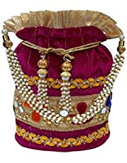 Women's Ethnic Potli/Potli Bag/Bridal Clutch/Purse for Party/Wedding/Wedding Gift