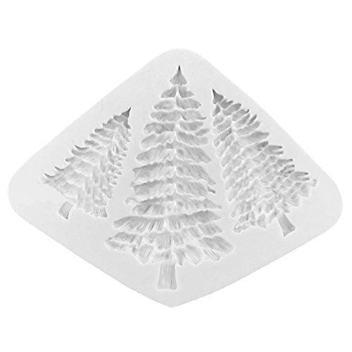 Gosear Silikon Weihnachten Baum Geformt Mould Fondant Kekse Gumpaste Schokolade Mold Kuchen Dekoration Tool