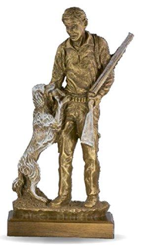 Figura cazador perro GRABADA escultura PERSONALIZADA