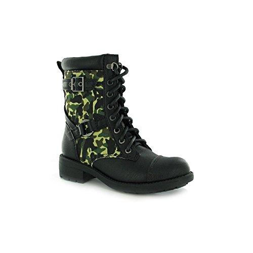 Rocket Dog Women's Thunder Military Ankle Boots Camouflage - Thunder Smoke Screen Olive Olive