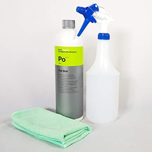 Clean 2 Koch Chemie Polstar Sprühflasche + Mikrofasertuch Grün 40 X 40 cm