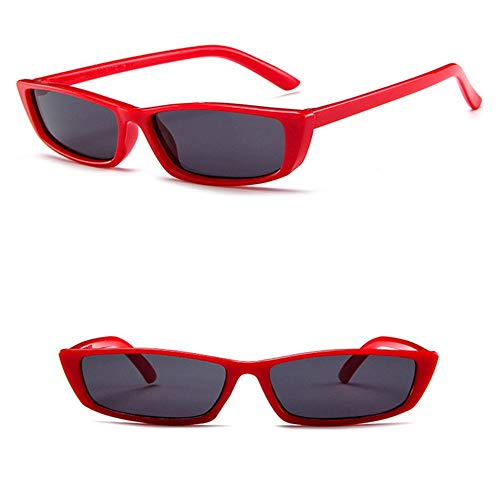 Wang-RX Sonnenbrille Damen Luxus Sonnenbrille Retro Small Frame Gelb Damen Red Eyewear Uv400