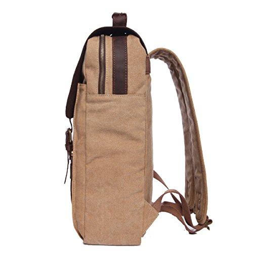 Yy.f Neuen Segeltuchrucksack Schultern Handtaschen Multifunktionale Tasche Rucksack Pony Leinenbeutel Wasserdichte Wanderreisen. Multicolor Brown