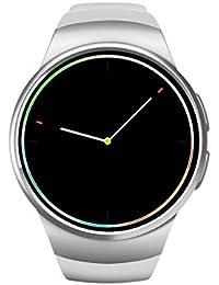 Deporte Bluetooth Pulsera Inteligente, 1.3 pouces Smart Watch con Ritmo Cardiaco Monitor/ Pantalla Táctil/ Cámara Remota/ Monitor de Sueño/ Contador De Pasos/Reloj Compatible con Android, IPhone IOS (Plata)