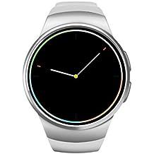 Bluetooth camera Phone, Smart orologio da polso, frequenza cardiaca smartphone Android e iOS, Tracker per nuoto iOS iPhone 5/5S/6/6Plus/7/7Plus in pelle per fitness Smartwatch