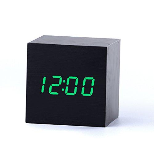 Tailcas® Digitale Mini Quadrato Sveglia Allarmi in Venatura del Legno