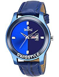 Swisstyle Analog-Digital Blue-Colour Dial Men's Watch SS-MV005-BLU-BLU