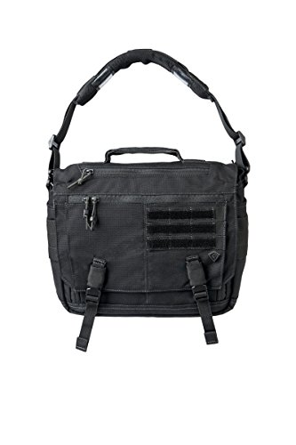 First Tactical Summit Side Satchel Messenger Bag One Size Black (Buckle Handtasche Satchel)