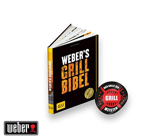 "Original Weber Grillbibel | Grillbuch - das Grill Buch zum perfekten Grillen + ""Grillmeister"" Sticker by Collectix"