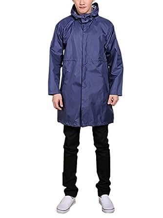 Lässige Männer Regenmantel mit Kapuze Nylon Regenkleidung