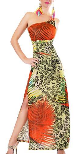 Cosmoda One Shoulder Kleid Abendkleid Maxi Asymmetrisch Fantasy Leo Print