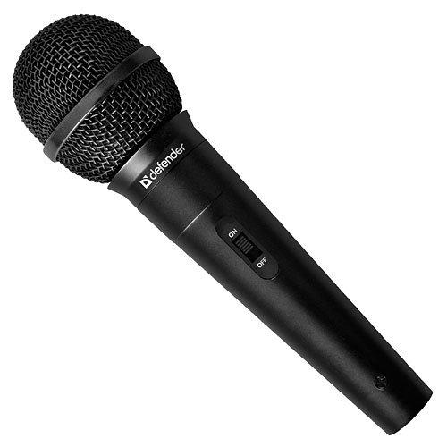 Defender Karaoke Mikrofon MIC-130 Schwarz Kabel 5m