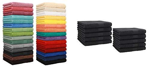 BETZ Set di 10 Asciugamani per Ospiti 30x50 Premium 100% Cotone Colore Azzurro