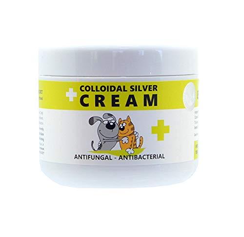 Kolloidales Silber für Haustiere - Beruhigende Antimykotika - antibakterielle Hautcreme für eine Vielzahl von Hauterkrankungen - 100mls -