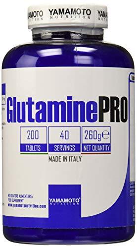 Yamamoto nutrition glutamine pro kyowa® quality integratore alimentare di glutammina 200 compresse