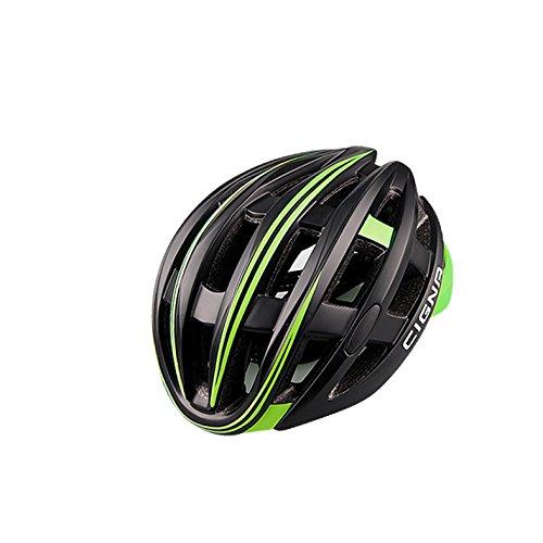Green-motorrad-helme Dark (Qarape Beruf Fahrradhelm mit Sicherheitslicht Einstellbare Sport Fahrradhelm Fahrrad Helme für Road & Mountain Biking Motorrad Sicherheit Schutz Outdoor Sports Helm für Erwachsene Männer Frauen ( Color : Dark green , Größe : L ))