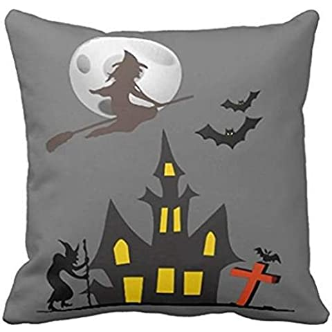 Halloween Haunted House pillow case 18*18