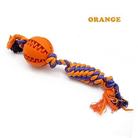 PetFun Pets Large Indestructible Cotton Knotted Rope Ball Toy for Aggressive Dog Chewer