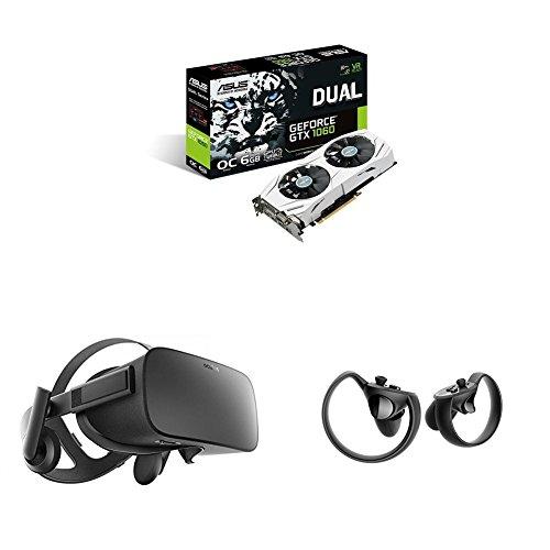 Oculus Rift + Oculus Touch + Asus Dual-GTX1060-O6G Gaming Nvidia GeForce Grafikkarte (PCIe 3.0, 6GB GDDR5 Speicher, HDMI, DVI, Displayport)