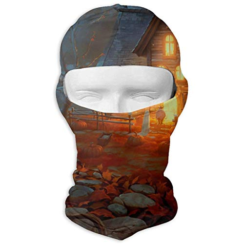 Sdltkhy Scary Happy Halloween Winter Hiking Full Face Mask UV Protection Neck Cover Hood for Men and Women