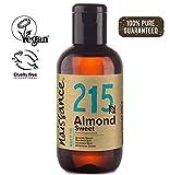 Naissance Aceite de Almendras Dulces n. º 215-100ml - 100% puro para humectar y equilibrar la piel, hidratar el cabello y todo el cuerpo.