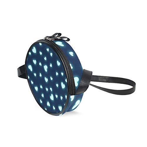 LORONA Hearts Page Webseite Website Blog Runde Umhängetasche Schultertasche Handtasche Umhängetasche Schultertasche für Kinder Frauen