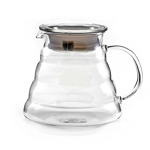 Dealglad Glas-Kaffeekanne, aus Glas, glas, durchsichtig, 600 ml