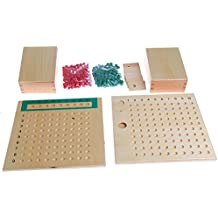 Kofun Montessori Mathematics Material Multiplication Bead Board Juguetes educativos Kid