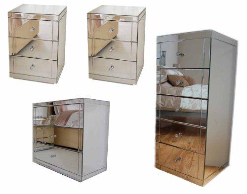 MY-Furniture-Pack-de-muebles-de-espejo-para-el-dormitorio-Comoda-baja-con-3-cajones-dos-mesillas-de-noche-comoda-alta-con-5-cajones-Gama-CHELSEA