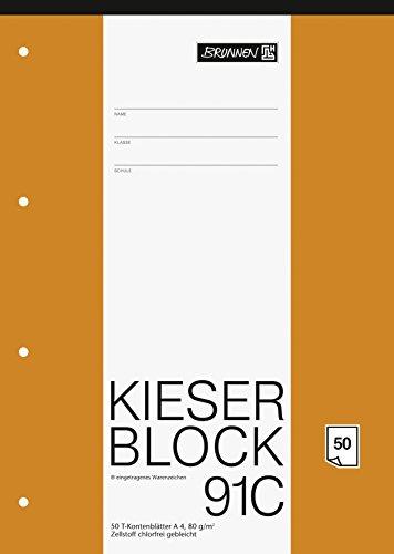 Brunnen 1042931 KIESER-Block T-Konten (A4, 50 Blatt, 10 T-Konten pro Seite, 80g/m², gelocht)