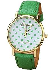 GENEVA Mujeres Puntos Cuarzo Reloj de Pulsera Verde