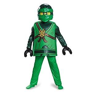 Lego Ninjago 98099L Ninjago Lloyd Disfraz Deluxe S (4-6 J), Niños, Verde, 109-126 cm