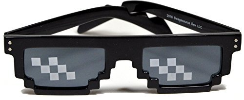 8 Bit Kostüm Pixelated - Deal With It Sunglasses Swagasaurus Rex Thug Life Sonnenbrille