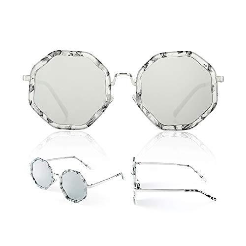 Pig pecs Trendige Polarisierte Sonnenbrille für Frauen,Gläser,Zubehör Etui,UV400 Schutz,Schön Ultraleicht Metallrahmen,Ideal zum Autofahren Angeln Städtetouren,D