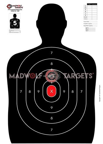 Siluetas tiro policial puntuación. (84,1 x 59,4cm ) - (Pack 50 siluetas)
