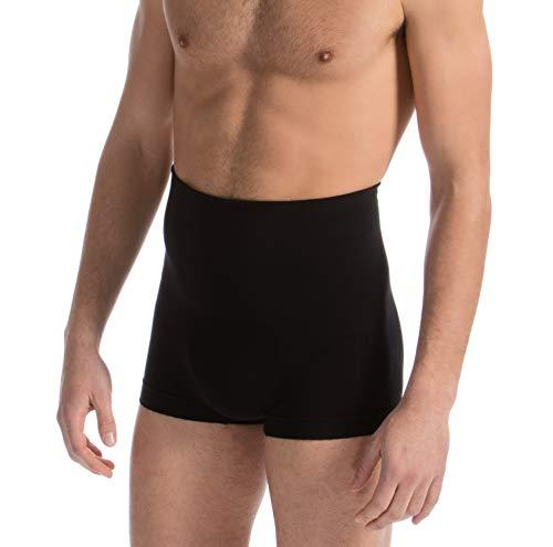 Farmacell man 402 (nero, xxl) boxer cotone uomo modellanti con fascia elastica