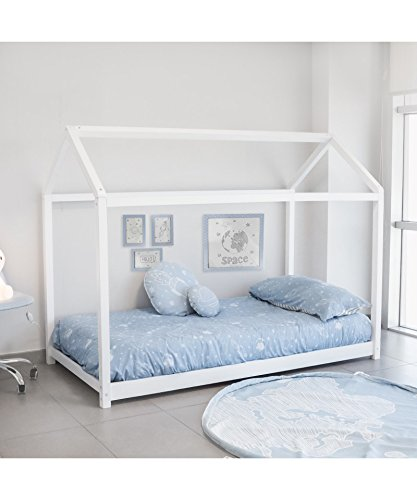 Cama montessori color blanco