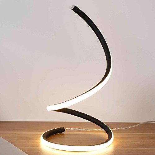 Kreative Mode (LOFAMI Kunst kreative Mode LED Schlafzimmer Nachttischlampe, Arbeits-Studie Auge Lampe, einfache moderne Wohnzimmer Hotel Dekoration Tischlampe ( Color : Black white light ))
