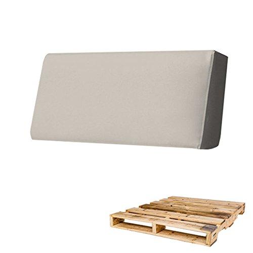 Arketicom Rückenlehne für Sofa Euro-Palette in verschiedenen Größen und Farben für innen und außen, hergestellt in Italien 80x30x15 beige