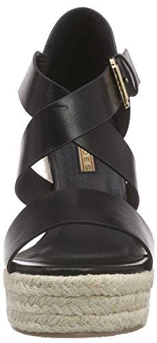 Buffalo 314034 Lxy Xsd, Sandales à plateforme femme Noir - Noir (01)