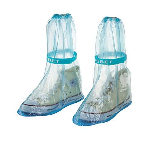 Etbotu tragbar Wasserdicht Antirutsch wiederverwendbar Regen, Schuh Regen Stiefel Bezug Regen Gear Regenmäntel Zubehör (Mops Stiefel Rosa)