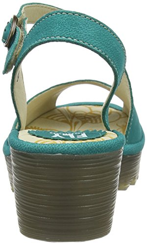 FLY London Damen Yamp836fly Sandalen Grün (Verdigris)