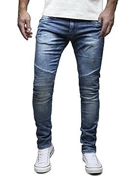 Merish Pantaloni Uomo Jeans Chino Slim Fit 4 Colori Moderno Modell J1166