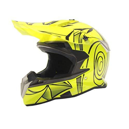 Motocross Helme Motorrad helm Four Seasons Offroad-Motorradhelm Red Bull Helm voll von Männern und Frauen Mountainbike Downhill-Offroad-Berg roten Helm (A01,S)