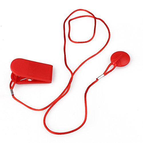 WINOMO Magnetisches Laufband laufen Maschine Sicherheit Schlüsselsicherheit Ersatzschalter - 2,3 cm Durchmesser (rot)