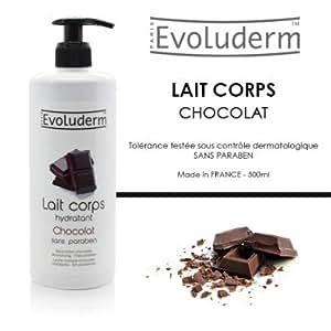 Lait corporel au chocolat evoluderm / pompe de 500 mL