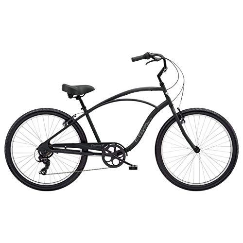 "Electra Cruiser 7D Tall Herren Fahrrad 26\"" Schwarz Beach Rad Retro 7 Gang, 513012"